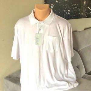 NWT Croft & Barrow White Polo Short Sleeve T-shirt